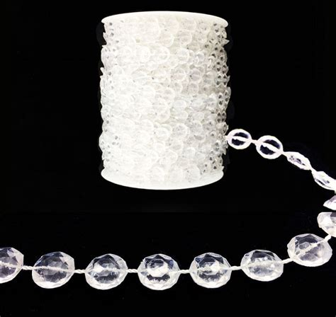 99 ft garland diamond strand acrylic crystal bead beaded