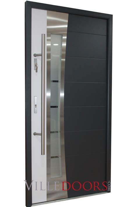 stainless steel front door quot porto quot stainless steel modern exterior door