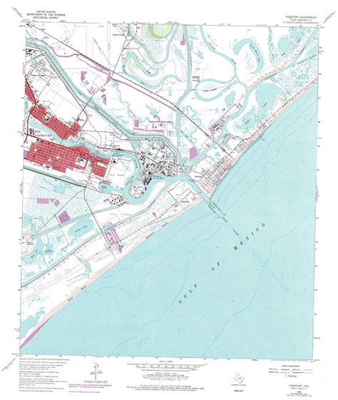 map of freeport texas freeport topographic map tx usgs topo 28095h3