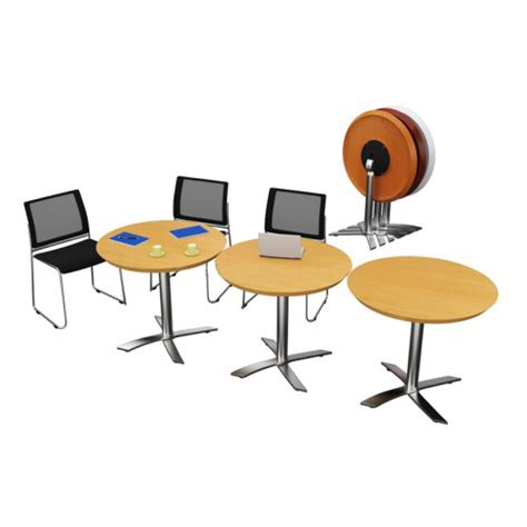 Round Table Reno Reno Flip Top Meeting Table Cafe Table Folding Top Tables