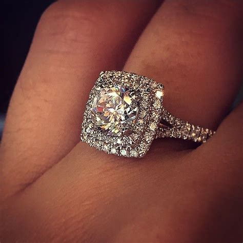 1000 ideas about halo wedding rings on