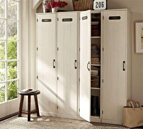 entryway lockers modular family locker entryway system pottery barn