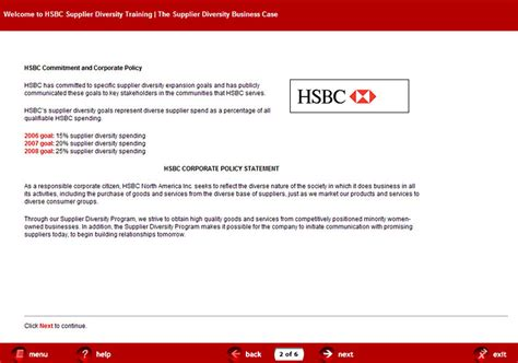 hsbc si鑒e social elearning course design for hsbc supplier diversity