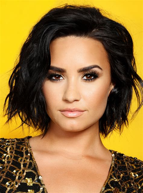 hair style up in one demi lovato just got the perfect late summer hair color