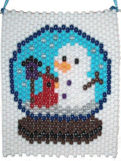 pony bead snowman what s new beading snowman snowglobe beaded banner