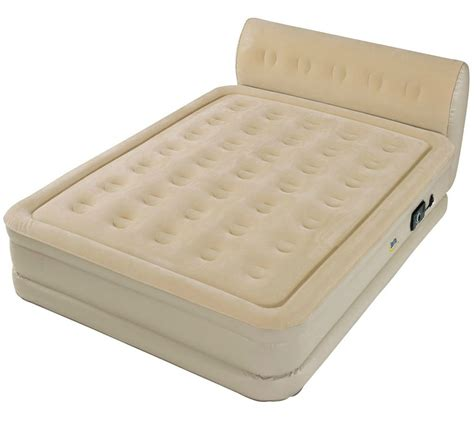 Air Mattress With Headboard with Size Air Mattress Raised Bed Built In Serta Headboard Ebay
