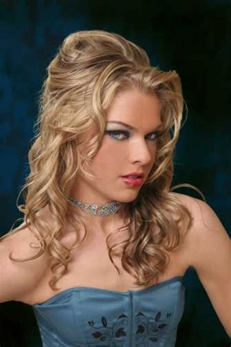 elegant hairstyles bump curly half updo hairstyles ideas hairstyles 2015 hair