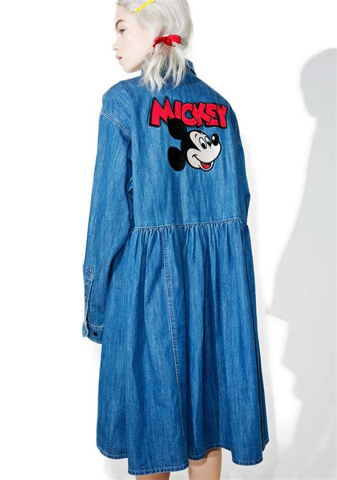 Mickey Denim lazy oaf x disney mickey mouse denim dress dolls kill