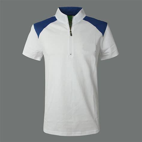 Ziper Polos zipper collar polo shirt custom polo shirt for