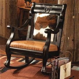 Cowhide Rocking Chair - 159 best cowhide furniture images on chairs