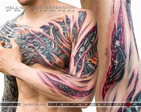 tattoo arm extension hell s roots extension by jerry magni tattoonow