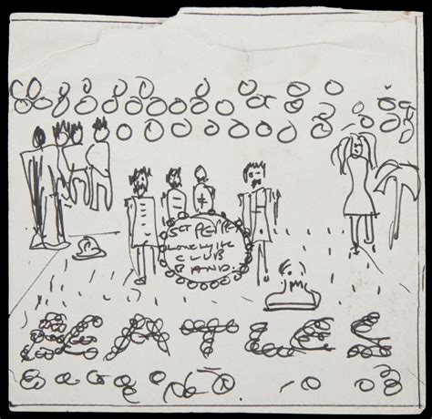 sketch show album lennon left this sketch when he moved house in