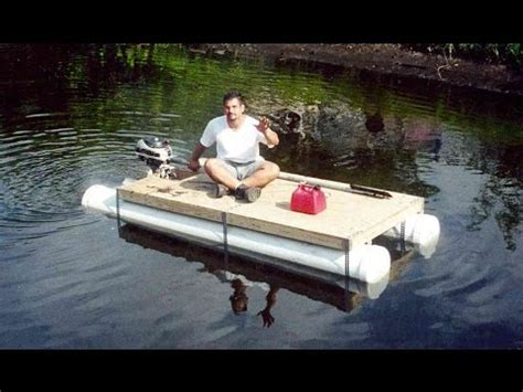 pontoon boat seat tape diy pvc pipe pontoon boat homemade boat in 1 day youtube