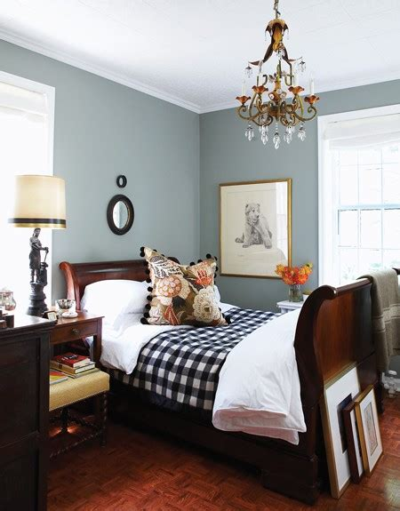 cozy winter bedroom modern country style gigantic gingham glory