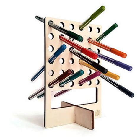 Cool Stuff For Office Desk Shop Wood Pen Holder On Wanelo