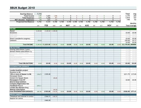 free expense tracking and budget tracking spreadsheet