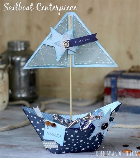 Sailboat Centerpieces Baby Shower by Nautical Sailboat Centerpiece