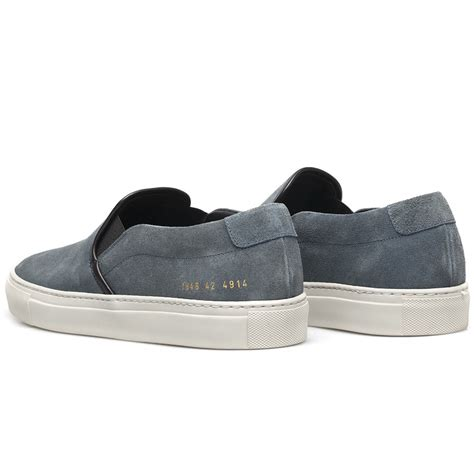 Common Projects Slip On common projects vintage suede slip on sneakers in blue for lyst
