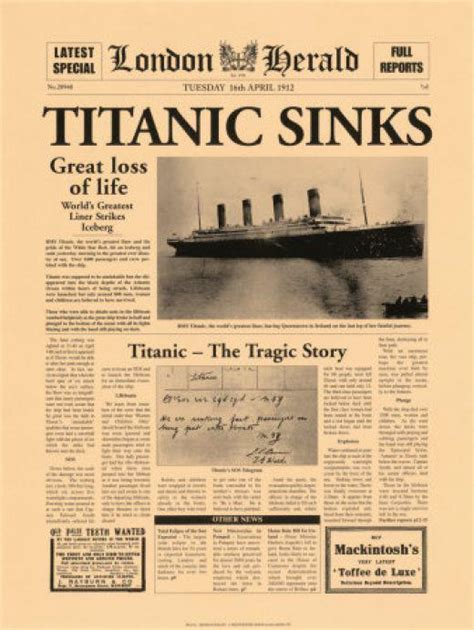 Titanic Sinks Newspaper by A Common Sense Look At The Most Popular Titanic Conspiracy