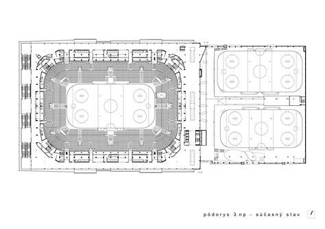 Architecture Floor Plans Gallery Of Ice Hockey Stadium Of Ondrej Nepela Fischer