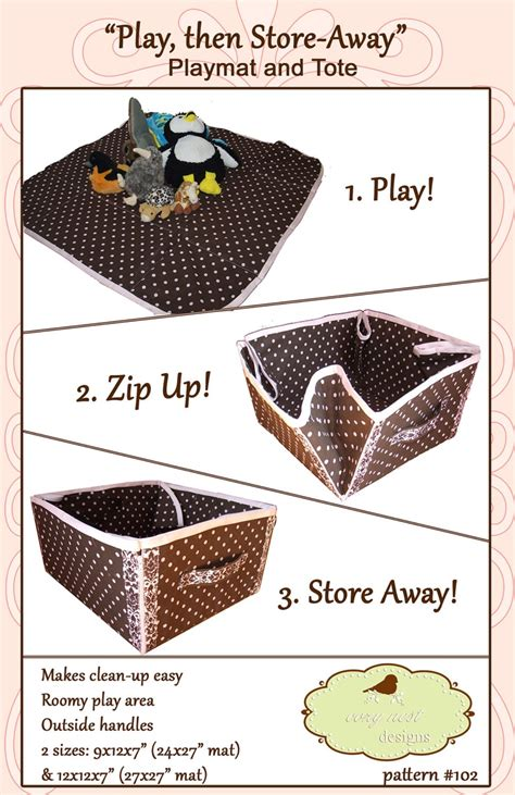 sewing pattern storage pinterest convertible play mat storage tote paper sewing pattern