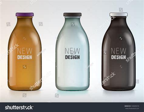 design milk water bottle blank glass bottle new design milk stock vector 169609310