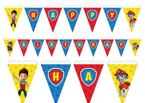 printable banner paw patrol 128 best images about paw patrol party on pinterest