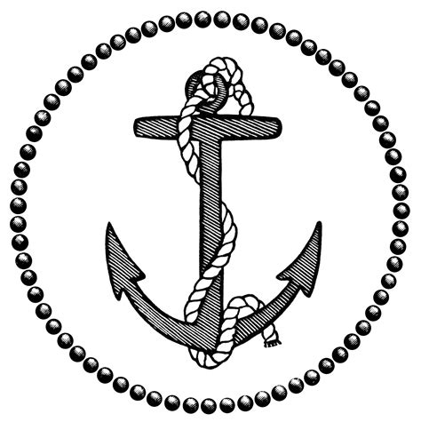 sailboat monogram clipart vintage anchor magazine ad free clip art old design