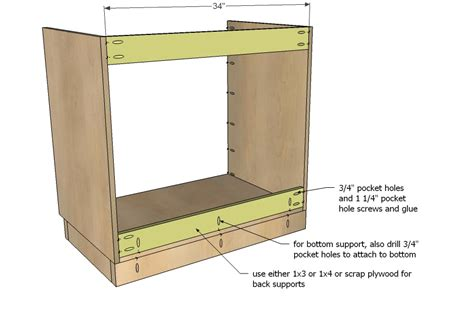 building kitchen cabinets plans diy projects kitchen cabinet sink base 36 full overlay