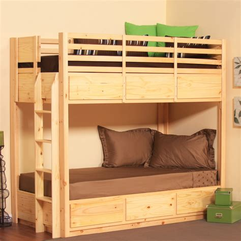complete  simple bedroom   profile bunk bed