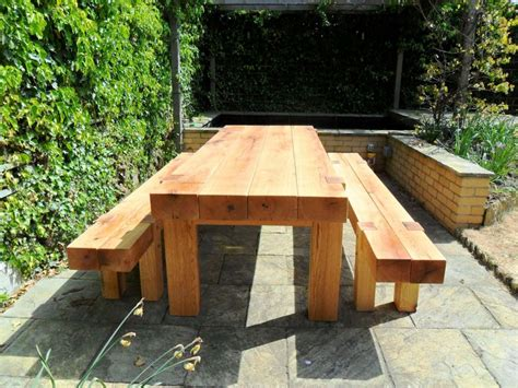 Furniture Made From Railway Sleepers by Furniture From Oak Railway Sleepers