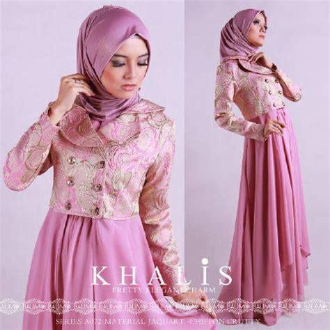 Gamis Longdresssterusan Panjang Muslim Arabic 2 contoh desain baju muslim dress dari bahan sifon terbaru 2016