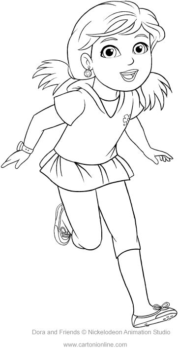 coloring pictures of dora and friends alana of dora and friends coloring pages