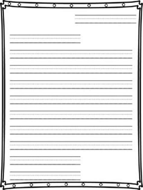 Letter Writing Paper Letter Writing Paper For 2nd Grade 1000 Ideas About Friendly Letter On Writing