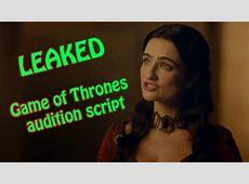 Leaked GOT audition script : Dialogue between Kinvara ... Game Of Thrones Season 6 Episode 4 Watch