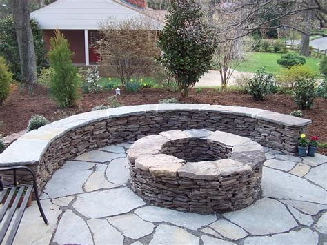 backyard stone patio backyard fire pit design ideas fire pit design ideas