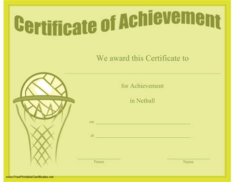 templates for netball certificates netball certificate templates 28 images sports