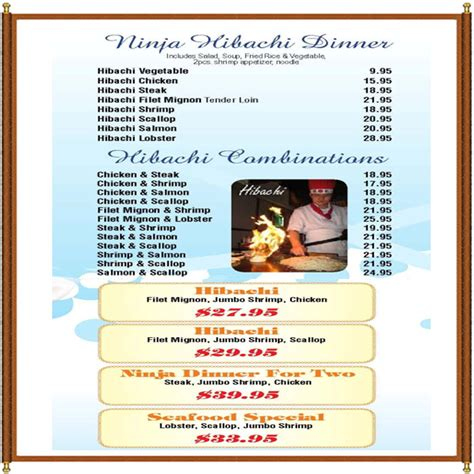 Virginia Kitchen Menu by Menu Suffolk