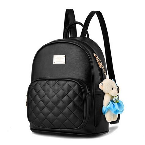 Backpack Set 4in1 Fashion Bags cool walker new arrival fashion backpack bag small pendant schoolbag leather