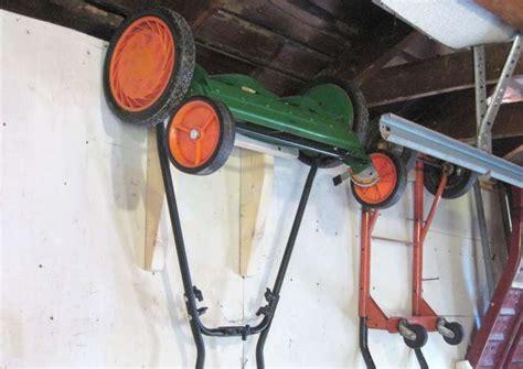 Push Mower Garage Storage Ideas Garage Storage Ideas