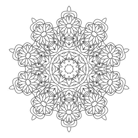 Kaleidoscope Coloring Pages For Adults | kaleidoscope coloring pages for adults coloring home