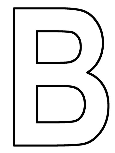coloring pages of letter b letter coloring pages 4