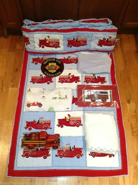 firetruck bedding pottery barn kid fire truck nursery crib bedding set quilt