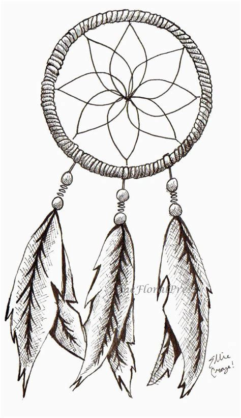 Catcher Drawing Simple dreamcatcher simple pencil and in color