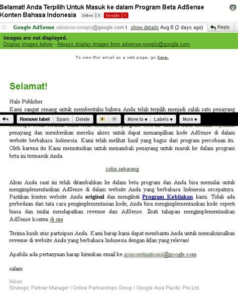 tutorial google adsense bahasa indonesia benarkah google adsense sudah support bahasa indonesia