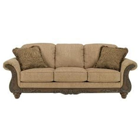 ashley cambridge sofa cambridge amber traditional 3 seat sofa with carved wood