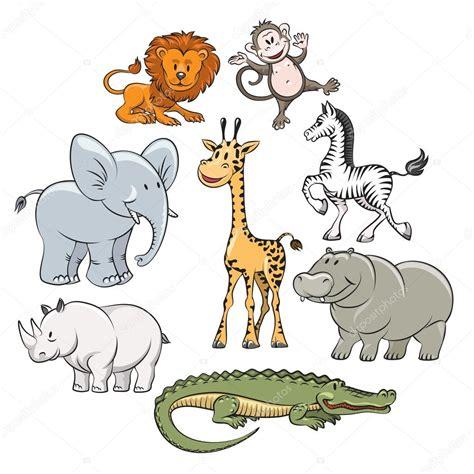 imagenes animales de la selva animados dibujos animados animales selva y safari vector de stock