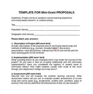 Grant Writing Template by Sle Grant 8 Documents In Pdf Word