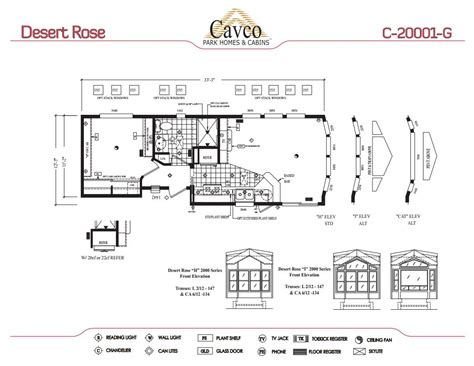 Breckenridge Park Model Floor Plans by Cavco Desert Rose Park Model Homes Canada