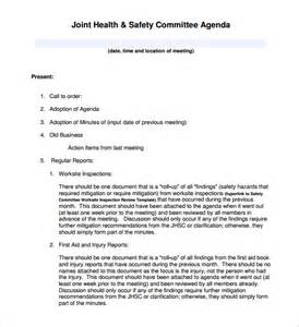 health and safety minutes of meeting template meeting agenda template 46 free word pdf documents